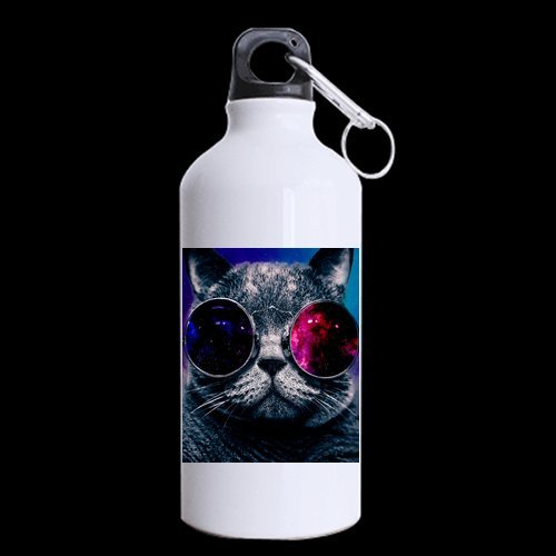 New Year Gifts/Christmas Day Gifts Cool Cat Wear Galaxy Sunglasses 100% Aluminum 13.5 OZ Sports Bottles