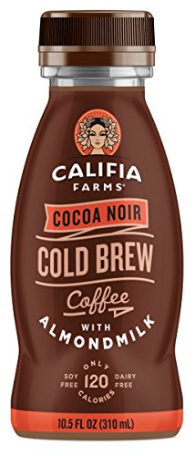 Califia Farms Cold Brew Coffee with Almondmilk, Dairy Free, Plant Milk, Vegan, Non-GMO, Cocoa Noir, 10.5 Oz (Pack of 12)