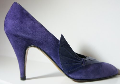 Pancaldi Pour Carvela Violet Cuir & daim bout pointu Cour Chaussures