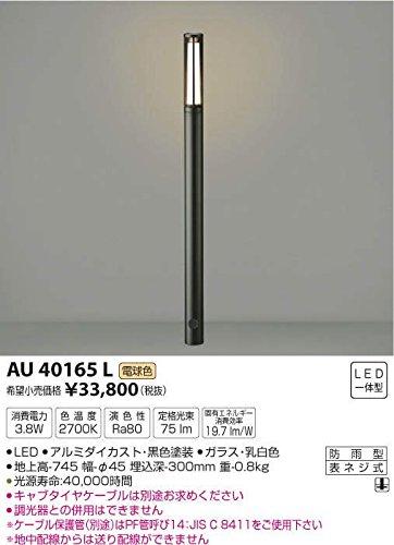 コイズミ照明 スリムガーデンライトφ45/地上高745mm(意匠登録済)黒色 AU40165L B00KVWJH2O 11747 地上高745mm 黒 黒 地上高745mm