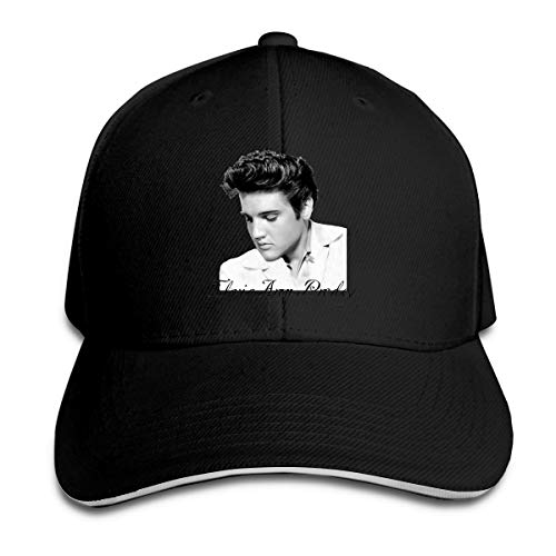 Corrine-S Acosoy Elvis Presley Outdoor Walk Cotton Hats Adjustable Black
