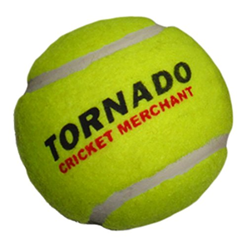 Tornado Heavy Cricket Tennis Ball - Pack of 6 (Yellow) by Tornado