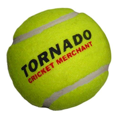 (Tornado Heavy Cricket Tennis Ball - Pack of 6 (Yellow))
