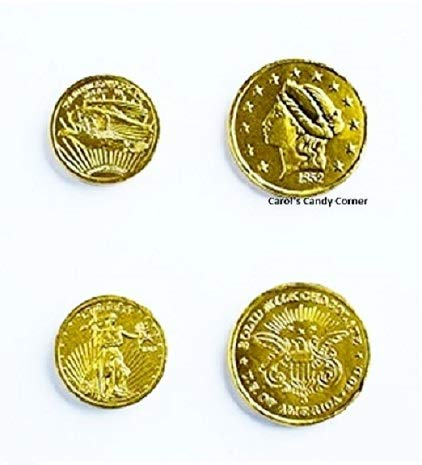Assorted Liberty Gold Coins Solid Milk Chocolate (1 Lb - Approx 92 Pcs)