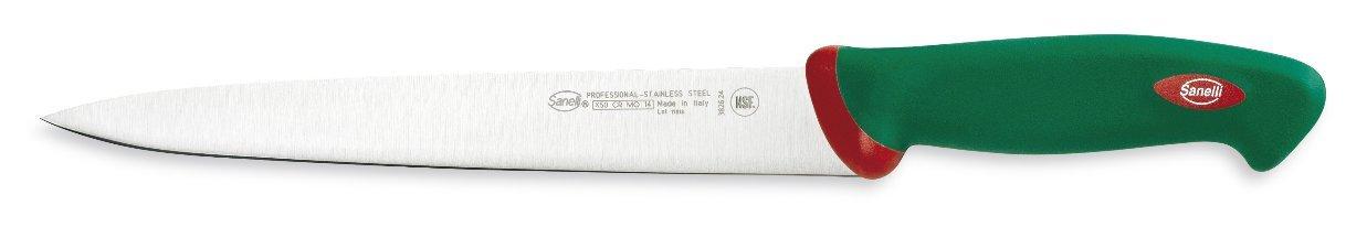 Sanelli Premana Professional Line Sushi Knife, 9.4'', Silver/Green