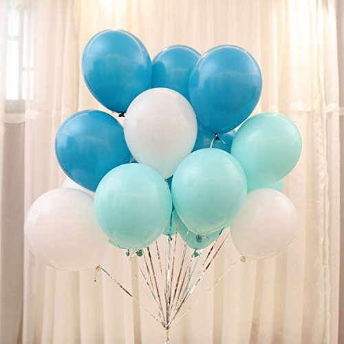 100 light blue balloons - 8