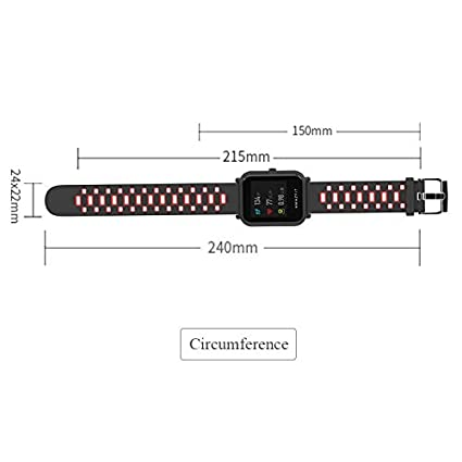 Amazon.com: LingStore 20mm Sports Silicone Wrist Strap ...