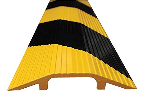 Cable Ramp - BWR Series; Overall (W x H): 7-1/8'' x 1-1/8''; Length: 36''; Usable Span (W x H): 2-5/8'' x 3/4''; Single Wheel Capacity (LBS): 10,000; Finish: Yellow and Black