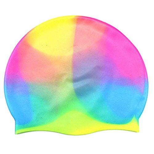 ACME - Bonnets de Bain en silicone cap de natation bonnet de natation coloré confortable pour adultes enfants Taille unique