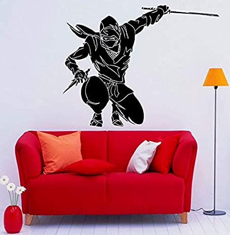 nkfrjz Arte decoración del hogar Ninja Tatuajes de Pared de ...