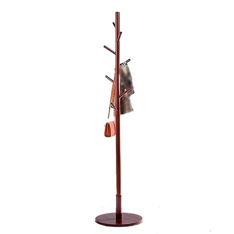 Amazon.com: LXF - Perchero de pie de madera maciza para ...