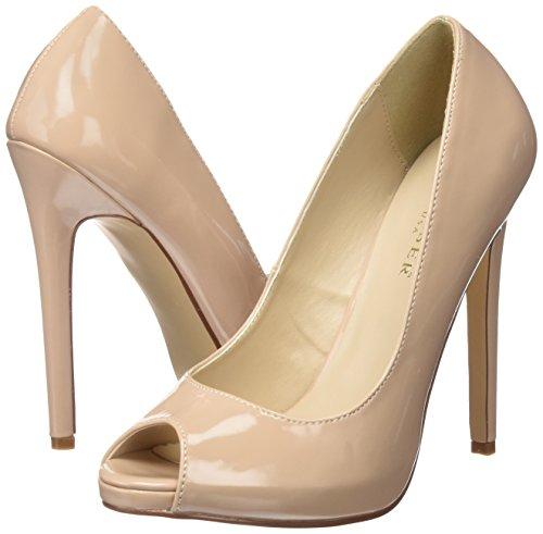 Pleaser Beige De cremefarben Con Punta Pat Tacón Mujer Cerrada 42 Para Sexy Zapatos nude rqxvrB