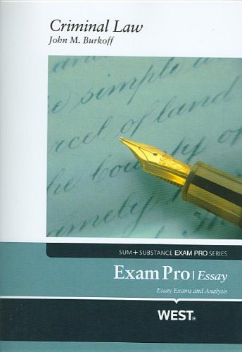 Exam Pro Objective on Criminal Law (Exam Pro Series)