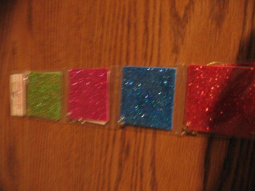 12 Gift Tags, 4 Colored Glittered Gift Tags