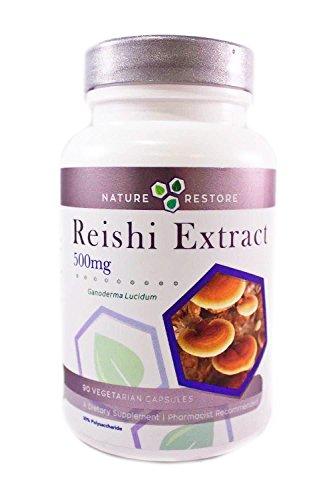 Reishi Mushroom Extract Supplement, Standardized to 30% Polysaccarides, 90 Caps, Manufactured in USA, Non-GMO & Gluten Free, (Ganoderma Lucidum)