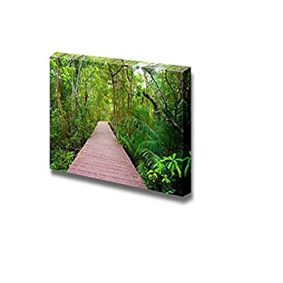 Canvas Prints Wall Art - Wooden Bridge to The Jungle, Tha Pom Mangrove Forest, Krabi,Thailand II| Modern Home Deoration/Wall Art Giclee Printing Wrapped Canvas Art Ready to Hang - 12