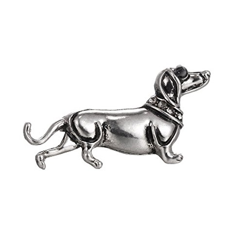 Botrong® Cute Enamel Dachshund Dog Animal Brooch Pin for Women men Kids Jewelry Gift (Style A)