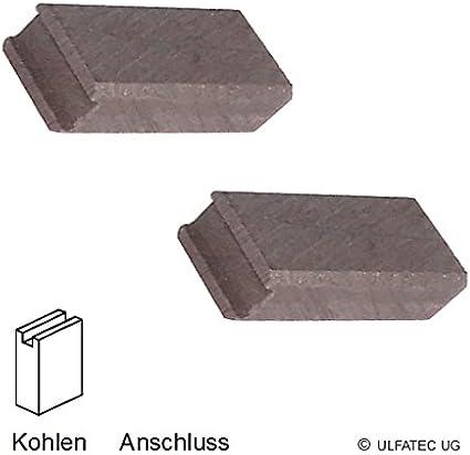 ULFATEC /® Kohleb/ürsten Motorkohlen Kohlestifte MATRIX AG 900-125 2210 6x9x13,5mm