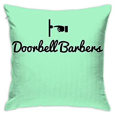 """Redcong Pillow Cover 18""""X18"""" Doorbell Barbers Pillowcase Square Throw Case Cushion for Sofa Decorative"""
