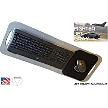 SERFPAD TV TRAY STYLE (Premium Version) - The Only Portable Keyboard Tray And Lapboard That Secures Your Favorite Ergonomic Keyboard & Mouse (Made In America From Grey Rigid Jet Craft Aluminum)