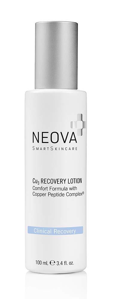 Neova Cu3 Recovery Lotion Comfort Formula with Copper Peptide Complex, 3.4 Fl Oz