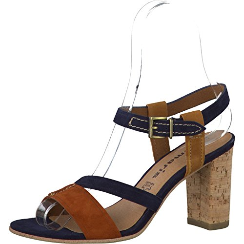 Tamaris Leny NAVY SUEDE COM Women's Sling Sandal Size 36 ...