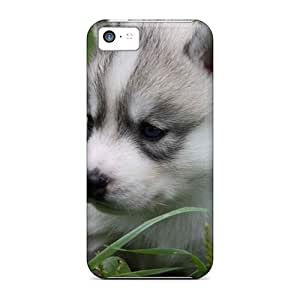Waterdrop Snap-on Animals Dogs Puppy In A Grass Cases For Iphone 5c