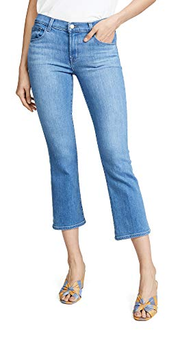 J And Company Bootcut Jeans - J Brand Women's Selena Mid Rise Boot Cut Crop Jeans, True Love, Blue, 24