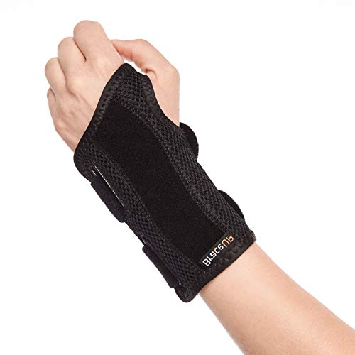 (BraceUP® Wrist Support Brace with Splints for Carpal Tunnel Arthritis - Left Wrist (S/M))