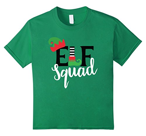 Price comparison product image Kids Family Christmas Matching T Shirts Holiday Group Elf Squad 12 Kelly Green