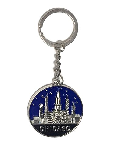 City of Chicago Souvenir Skyline Key Ring Keepsake -