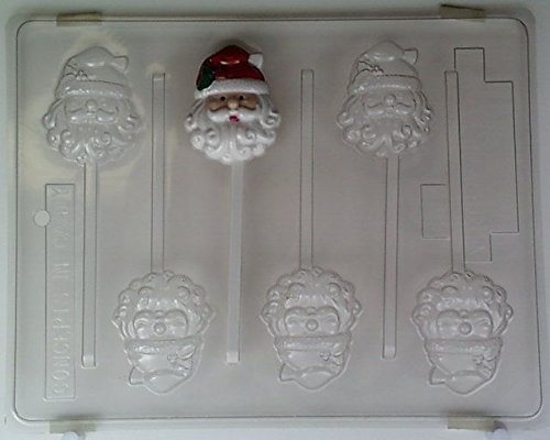 (Curly-bearded Santa face C012 Christmas Chocolate Candy Mold)