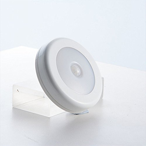 Price comparison product image Night-Light Infrared PIR Motion Sensor 6 Led Wireless Detector Light Wall Lamp Light Auto On / Off Closet Battery Power White White
