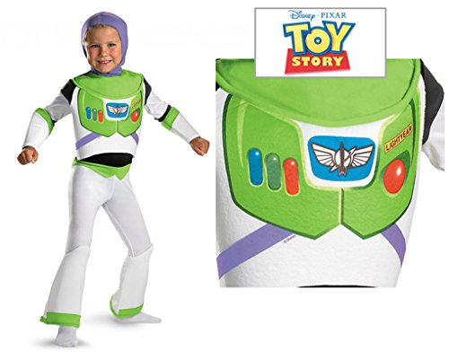 Buzz Lightyear Fancy Dress Adult (Child size Deluxe Buzz Lightyear - Toy Story - fits Small 4-6)