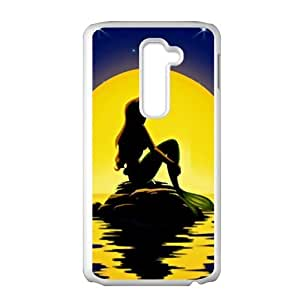 HUAH Beautiful sea yellow moon Mermaid Cell Phone Case for LG G2 by icecream design