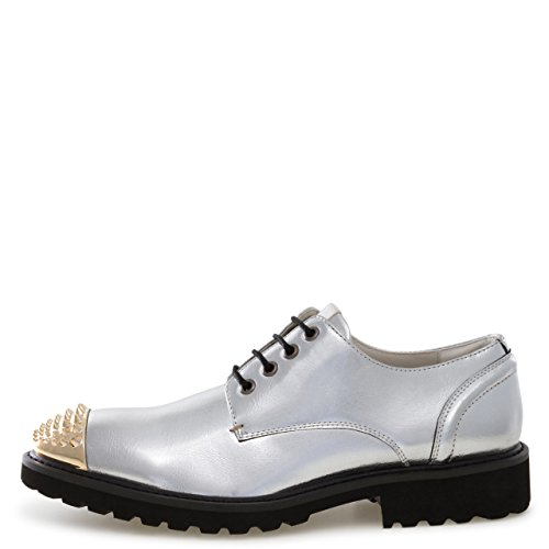 by Casual Spiked Silver J75 Oxford Jump Dress Jethro Lace Toe Narrow Men's Up O6wBdq