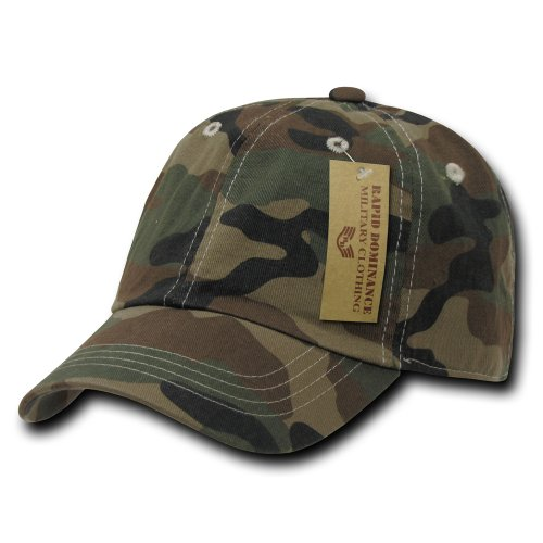 Rapiddominance Polo Cap, Woodland Camo (Adjustable Camoflauge Cap)
