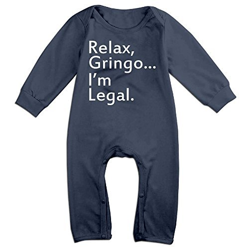 Relax, Gringo... I'm Legal - Funny Mexican, Latino, Spanish Immigrant Baby Fashion Climbing Clothes Navy