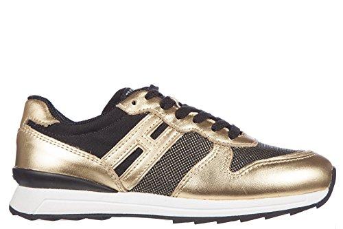 Hogan Rebel BabyschuheSneakers Kinder Baby Schuhe Turnschuhe Leder r261 allacci