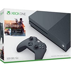 Xbox One S Battlefield 1 Special Edition Bundle, Storm Grey (500GB) from Microsoft