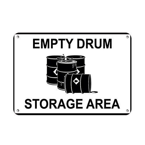 Empty Drum Storage Area Business Sign Warehouse Signs Vinyl Sticker Decal 8""