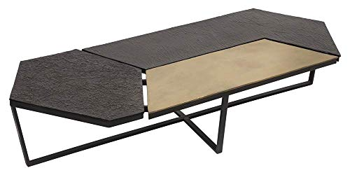 (Moe's Home Collection Contemporary Modern Coffee Table in Anitque Brass)