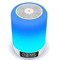 【光+音!ランプ+スピーカー+目覚まし時計!】 Arbily 18ヶ月品質...