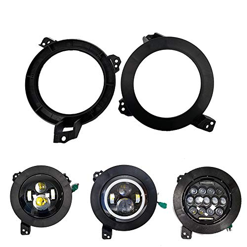 BEATTO Newest a Pair 7 inch Headlight All-Directional Adjustment Mounting Brackets For 2018-2019 Jeep Wrangler JL ()