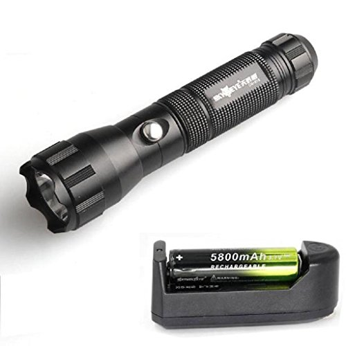[Laimeng, 3500 LM 3 Modes CREE XM-L T6 LED 18650 Rechargeable Battery+Charger Flashlight] (Soda Bottle Costumes)