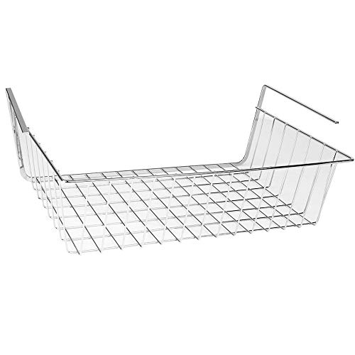 Storage Holders Racks - Storage Space Under Basket Placard Silver - Hanging Baby Kitchen Stand Box Box Swing Shelf Metal Baby Kitchen Basket Shelf Electric Baby The Wall Rack Cabinet Holder (Wall Amanda Cabinet)