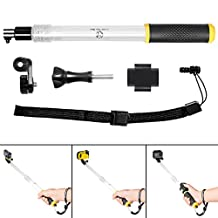 Fantaseal® Action Camera Floaty Holder Selfie Stick Pole Waterproof Underwater Telescopic Extendable Pole Floating Hand Grip for Waterproof Camera GoPro Hero5 / Hero5 Session / Hero4 Session / Hero4 / 3+ / 3 + SJCAM Garmin Virb Xiaomi Yi DBPOWER Qumox Vic Tsing + SONY FDR X-3000V X1000VR HDR AS 300 AS-10 AS-15 AS-20 AS-30 AS-50 AS-100 AS-200 AZ-1 and GoPro-like Action Cam - Extendable from 35.3 to 60cm w/Remote Holder