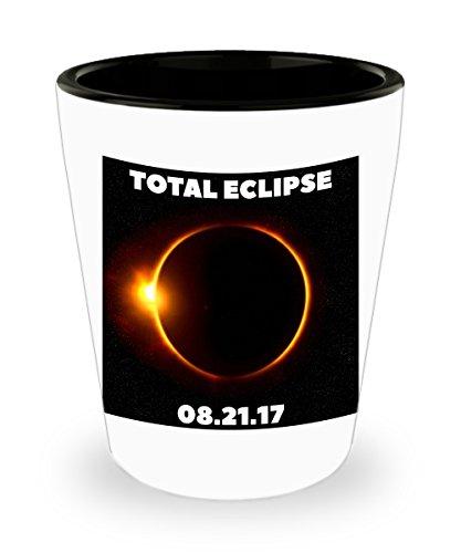 Eclipse Shot Glasses 2017 - Total Solar Eclipse Commemorative Shot Glass - Ceramic