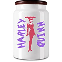 Harley Quinn Cookie Jar| Solid Ceramic Build| The Stylish Way To Store Your Biscuits, Wafers, Candy & Herbs| Top Quality Print| A Unique Twist To Your Kitchenware