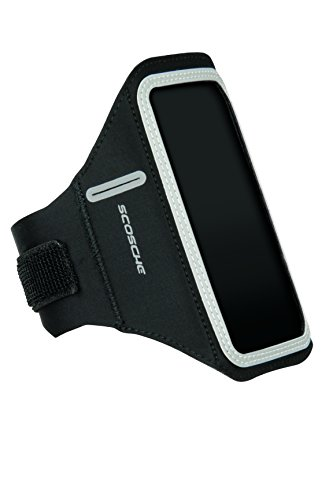 SCOSCHE SoundKase XL Ultra-Light Sport Armband Cell Phone Case for Universal Smartphones - Fits Most Apple, Android, Samsung, HTC, LG and Motorola Devices - Black/Gray - X-Large Armband (HFDABXL) by Scosche